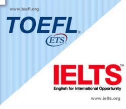 Ets toefl and ielts logos