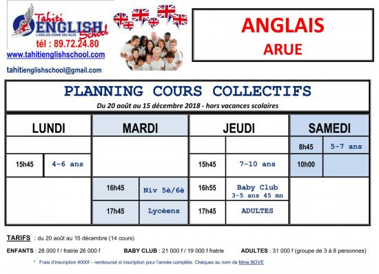 Planning cours ARUE 2018 MAJ